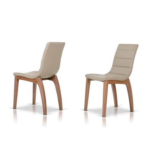 Liev - Modern Leatherette Dining Chair (Set of 2)