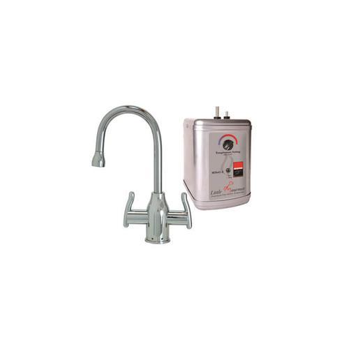 Mountain Plumbing - Hot & Cold Water Faucet with Modern Curved Body & Handles & Little Gourmet® Premium Hot Water Tank - Venetian Bronze
