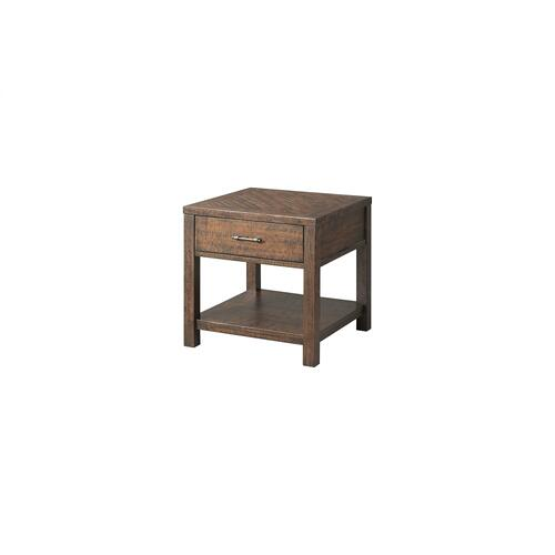 Elements - Jax End Table in Rich Walnut Finish     (TJX-100-ET,75214)