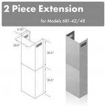 """See Details - ZLINE 71"""" Extended Chimney (2PCEXT-681-42/48)"""