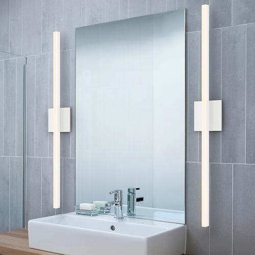 "Sonneman - A Way of Light - Stix LED Bath Bar [Size=18"", Color/Finish=Bright Satin Aluminum]"
