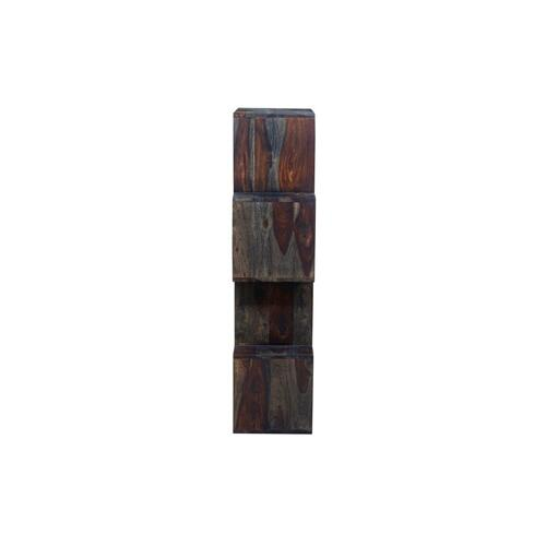 Porter International Designs - Fall River Obsidian 4 Tier Bookcase, HC4879S01