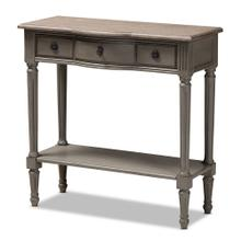 See Details - Baxton Studio Noelle French Provincial Gray Finished 1-Drawer Wood Console Table