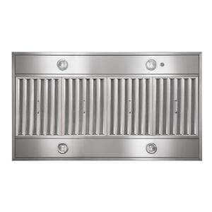 "Gorgona - 48"" x 27"" Stainless Steel Island Range Hood with iQ12 Blower System, 1200 CFM"
