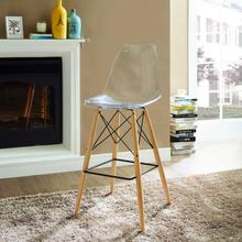 See Details - Pyramid Bar Stool in Clear