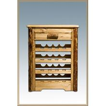Glacier Country Log Wine Cabinet