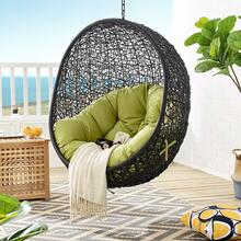 Encase Swing Outdoor Patio Lounge Chair Without Stand in Black Peridot