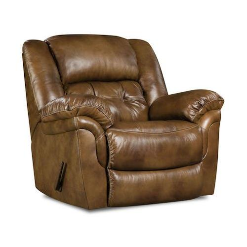 Product Image - 155-91-15  Rocker Recliner, Chaps Saddle - TOP GRAIN LEATHER