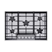 SGSP305TS ® offers an impressive 30-inch gas cooktop with 5 raised pedestal Star® burners, including a center-mounted power burner, and 54,000 BTUs of overall heat output. 30-Inch Masterpiece® Pedestal Star® Burner Gas Cooktop