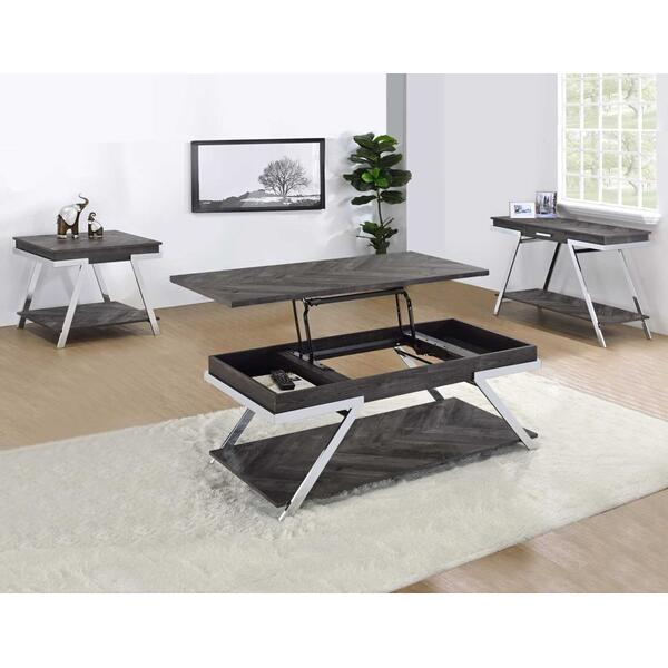 Roma 3-Piece Cocktail Table Set (Cocktail & 2 End Tables)