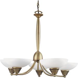 5-lite Ceiling Lamp, Bronze W/frost Glass 60wx5/g Type