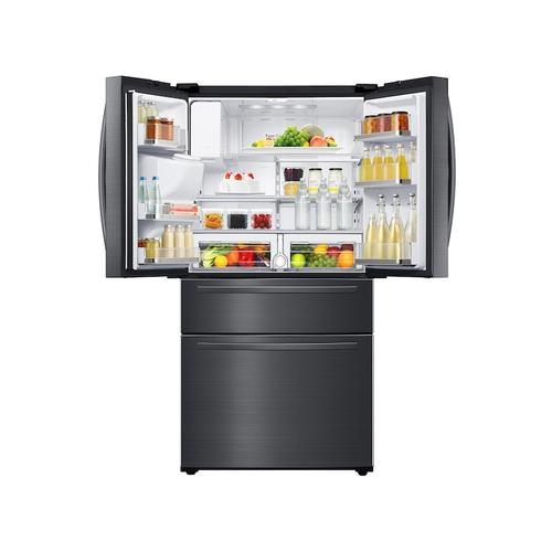 25 cu. ft. Large Capacity 4-Door French Door Refrigerator with External Water & Ice Dispenser in Black Stainless Steel