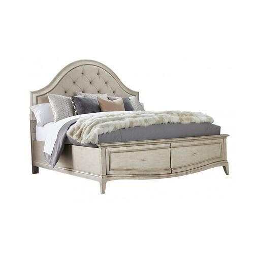 Starlite California King Upholstered Panel Bed with Storage