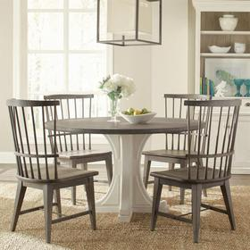 Round Pedestal Dining Table Top - Chalk Finish