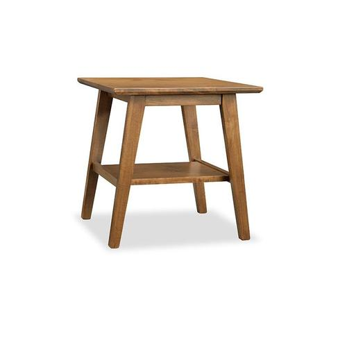 Handstone - Tribeca Leg End Table with Shelf