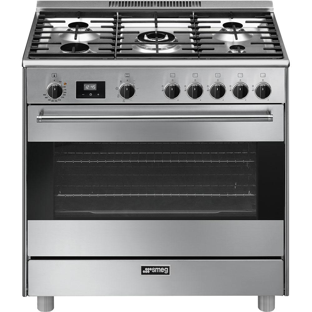 """SmegFree-Standing Dual-Fuel Range, Approx. 36"""", Stainless Steel"""