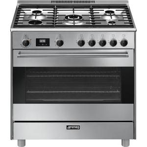 "SmegFree-Standing Dual-Fuel Range, Approx. 36"", Stainless Steel"