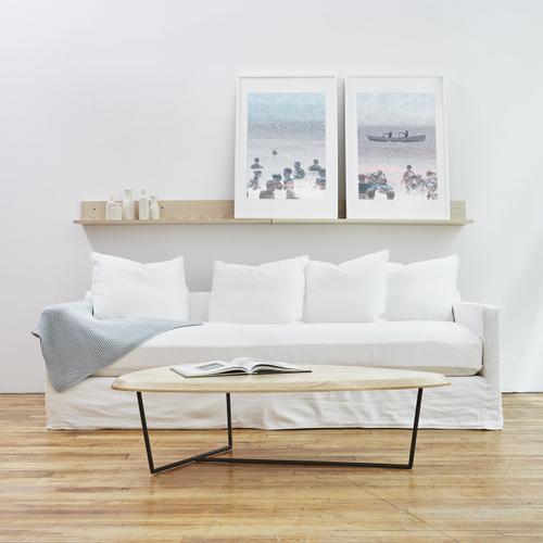 Product Image - Carmel Sofa Slipcover Set Washed Denim White