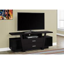 "TV STAND - 60""L / CAPPUCCINO WITH 2 STORAGE DRAWERS"