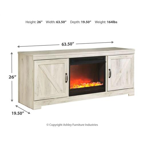 """Signature Design By Ashley - Bellaby 63"""" TV Stand With Fireplace"""