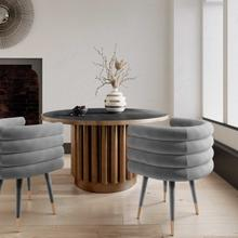 View Product - Betty Grey Velvet Dining Chair