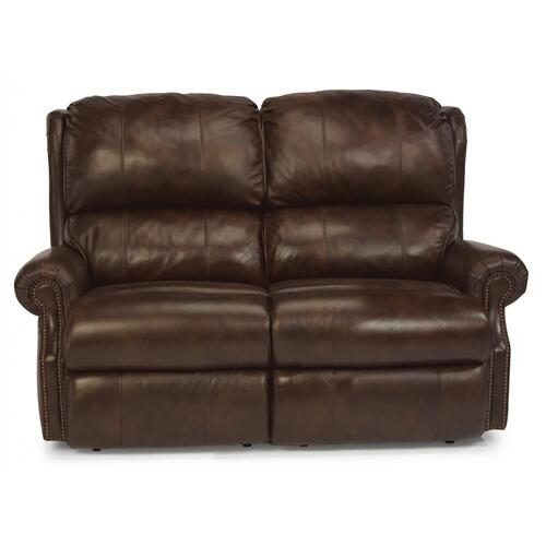 Flexsteel Home - Comfort Zone Leather or Fabric Reclining Loveseat
