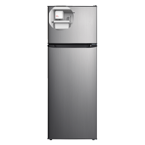 Galanz 12.0 Cu.Ft Top Mount Refrigerator with Bulit-in Ice Maker in Stainless Steel Look