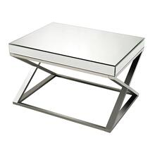 MIRROR AND STAINLESS STEEL COFFEE TABLE