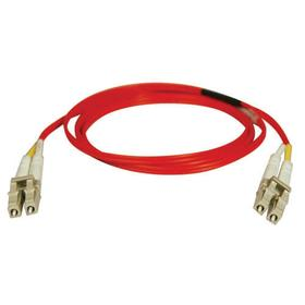 Duplex Multimode 62.5/125 Fiber Patch Cable (LC/LC) - Red, 2M (6 ft.)