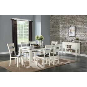 See Details - Table & 6 Chairs Two Tone