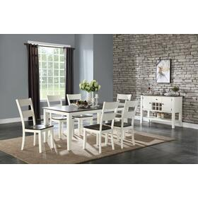 Table & 6 Chairs Two Tone