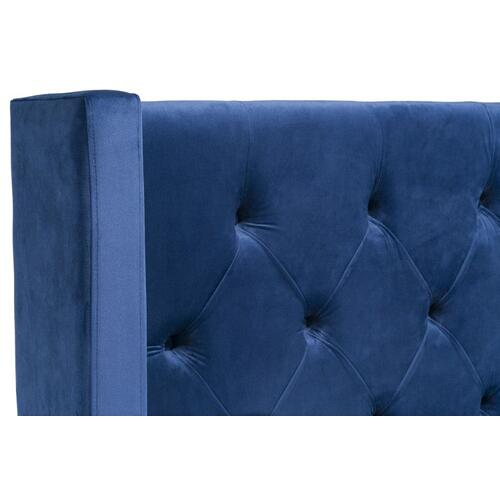 Westerly Queen Upholstered Bed, Blue