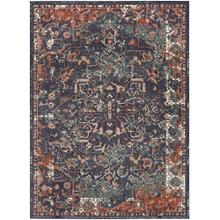 Soiree Damascus Indigo 2'x3'