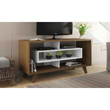 Rust & White TV Stand