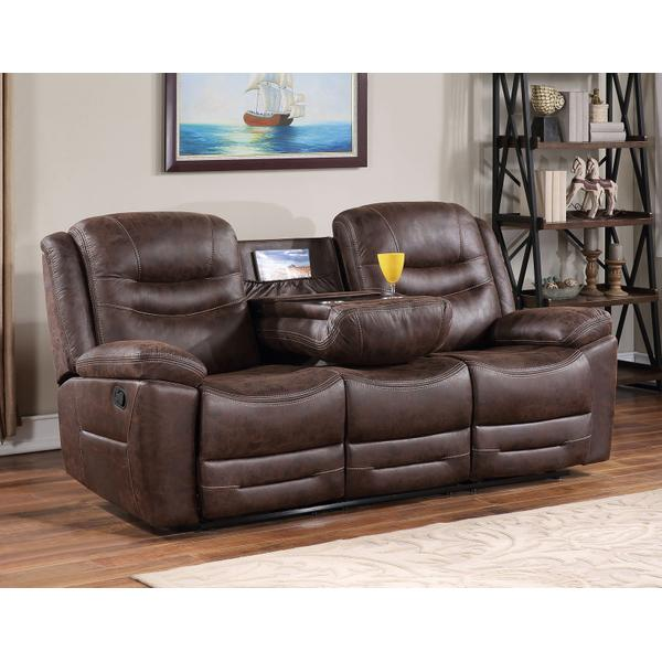 See Details - Stetson Manual Reclining Sofa w/Dropdown Table