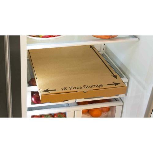 "Marvel - Marvel Professional Built-In 48"" Side-by-Side Refrigerator Freezer - Marvel Professional Built-In 48"" Side-by-Side Refrigerator Freezer - Stainless Steel Doors, Slim Designer Handles"