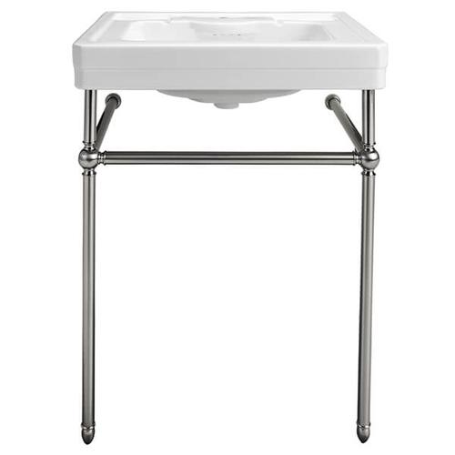 Dxv - Fitzgerald Console Sink- Single Faucet Hole - Canvas White / Polished Chrome