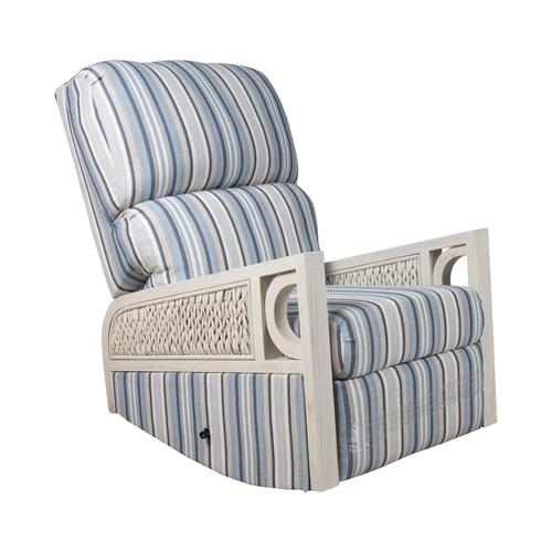 Capris Furniture - Recliner Glider, Fully Upholstered Arms.
