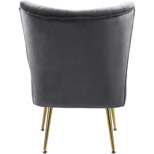 "Tess Velvet Accent Chair - 22.5"" W x 26.5"" D x 29.5"" H"