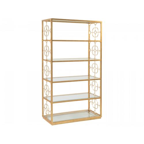 Gold Leaf Honeycomb Etagere