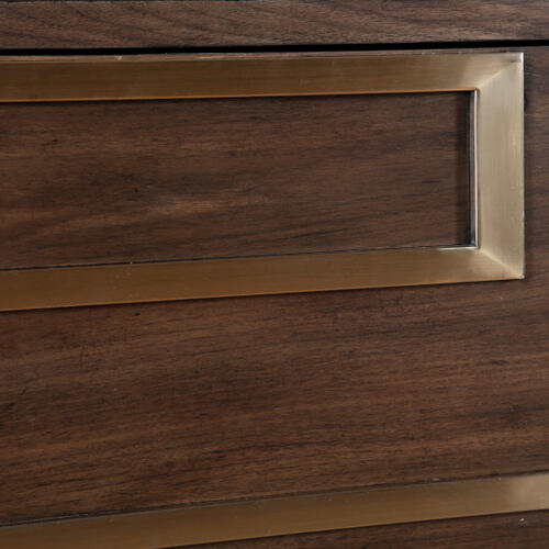 Geo Serpentine Two Door Chest in Walnut Brown