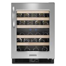 KitchenAid® 24-Inch Wine Cellar, Right-Hand Door Swing, Architect® Series II - Stainless Steel