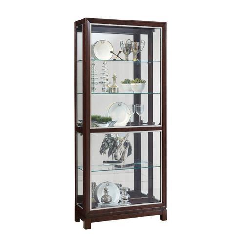 Pulaski Furniture - Park Avenue Nickel Inlay Display Cabinet