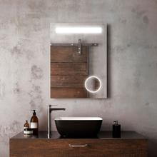 Bathroom makeup mirror with lights