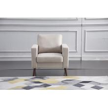 See Details - 8127 BEIGE Linen Stationary Basic Chair