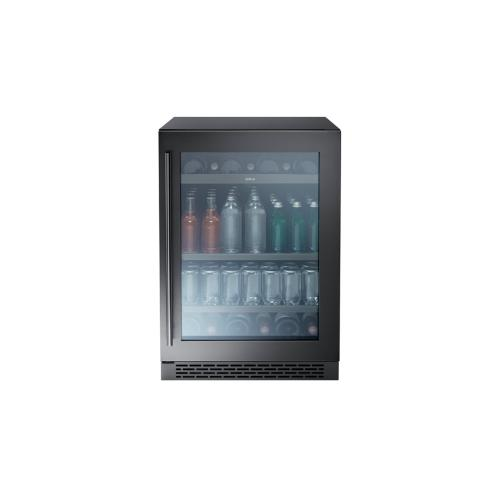 "24"" Single Zone Beverage Cooler - Black Stainless"
