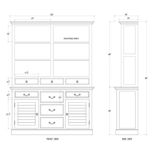 Cottage Open Display Cabinet