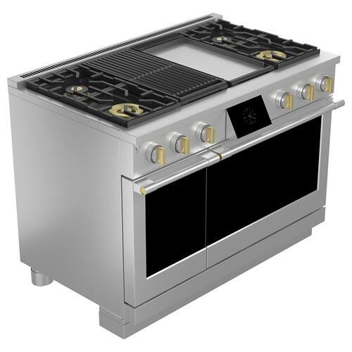 """Monogram - Monogram 48"""" Dual-Fuel Professional Range with 4 Burners, Grill, and Griddle (Natural Gas)"""