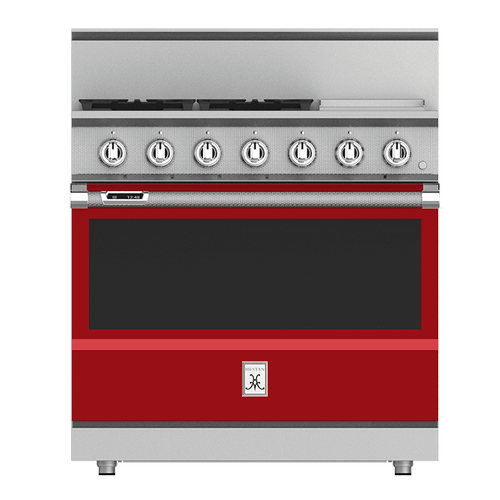 "36"" 4-Burner Dual Fuel Range with 12"" Griddle - KRD Series - Matador"