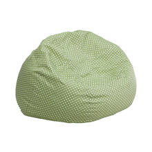 Small Green Dot Bean Bag Chair for Kids and Teens